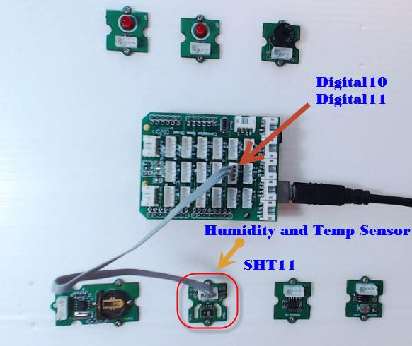 ทดสอบการเขียนโปรแกรม Arduino UNO R3 อ่านค่าอุณหภูมิและความชื้น  Humidity and Temp Sensor SHT11